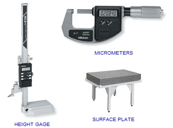 Calibrate Micrometers, Surface Plates, Height Gages